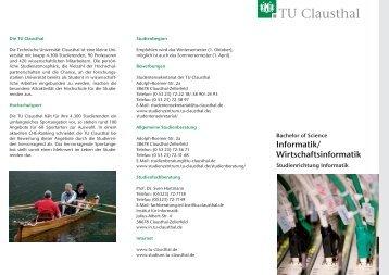 Informatik - Studieren in Clausthal - TU Clausthal