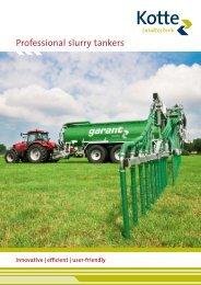 Professional slurry tankers - Kotte Landtechnik
