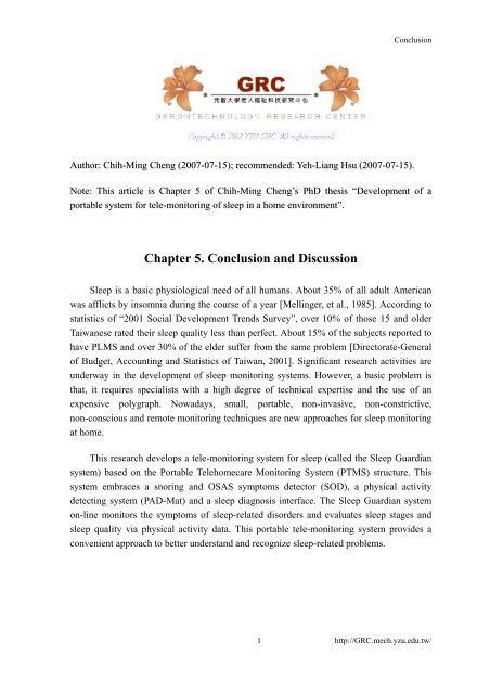 Discussion conclusions dissertation