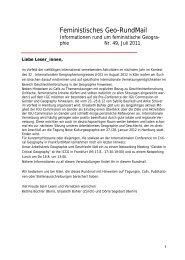 Nr. 49, Juli 2011 - AK Geographie und Geschlecht