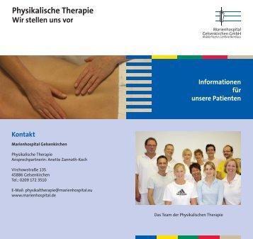 110217 Flyer Physikalische Therapie Internet.indd - Marienhospital ...