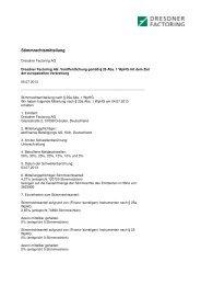 05.07.2013 Veröffentlichung gemäß § 26 Abs. 1 WpHG, § 25a ...