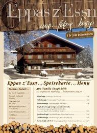 Eppas z' Essn… Speisekarte… Menu - Gasthaus Goglhof