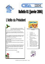Sommaire 2 - Le Carnet la carte de visite 3 - L'Agenda 4 ... - CARA IBM