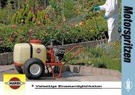 Prospekt Gartenbauspritzen - Kotte Landtechnik