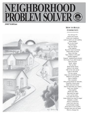 neighborhood problem Page 7 neighborhood problems - where to call city of omaha's web page: wwwcityofomahaorg mayor's hotline webpage:.