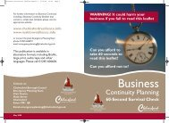 Business Continuity Planning - Chelmsford Borough Council