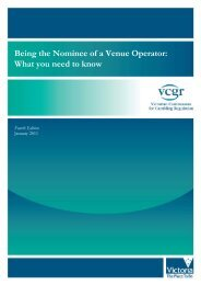 Being the Nominee of a Venue Operator - Victorian Commission for ...