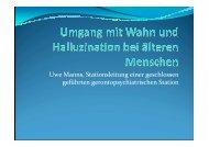 Uwe Manns - Umgang mit Wahn und Halluzination bei älteren ...