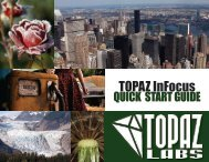 Topaz InFocus Quick Start Guide - Topaz Labs