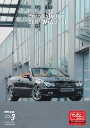 Preisliste für CLK (W/A 209)
