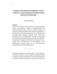 lntegration Psychodynamisch lmaginativer Trauma Therapie in ein ...