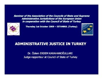 (Microsoft PowerPoint - Administrative Justice in Turkey \(2\).ppt ...