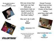+ Download Volunteer Brochure - Boys & Girls Clubs of the East Valley
