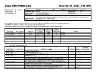 EVLA OBSERVING LOG 2012-06-21_0511_12A ... - Very Large Array