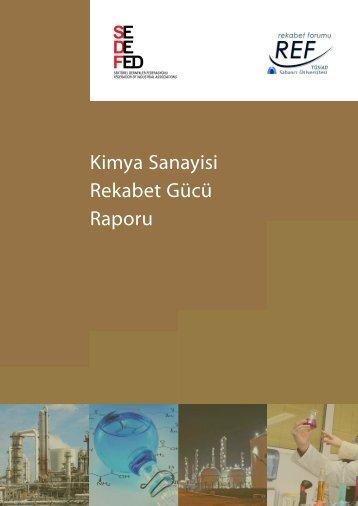 Kimya Sektörü Rekabet Gücü Raporu 2012 - REF - Sabancı ...