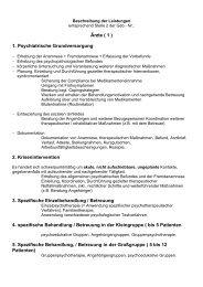Ärzte ( 1 ) 1. Psychiatrische Grundversorgung 2. Krisenintervention 3 ...