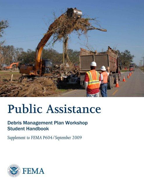 FEMA Debris Management Plan Workshop Student Handbook