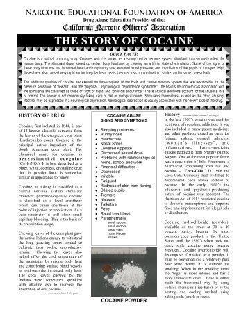 Cocaine - California Narcotic Officers' Association
