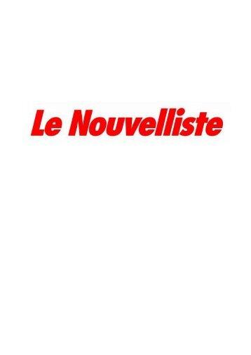 Le Nouvelliste 9.4.13