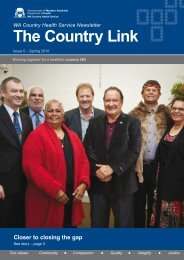 The Country Link Newsletter - WA Country Health Service