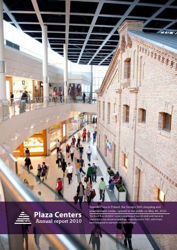Annual report 2010 - plazacenters
