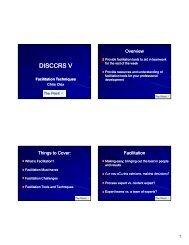 Facilitation Techniques (pdf) - DISCCRS