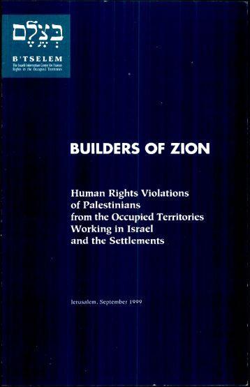 Download the full report as PDF - B'Tselem