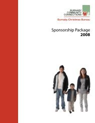 Sponsoring a Family - Burnaby Community Connections