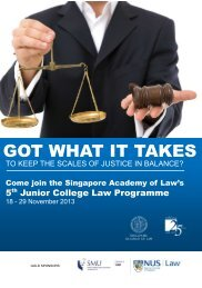 JCLP 2013 Pamphlet - Singapore Academy of Law