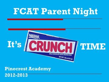 FCAT Parent Night PP - SchoolNotes