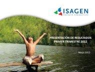 PRESENTACIÓN DE RESULTADOS PRIMER TRIMESTRE ... - Isagen
