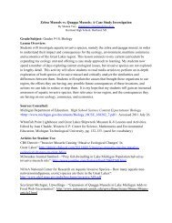 Replacement of Zebra Mussels by Quagga Mussels in the