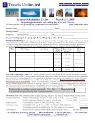 Booking Form - Travels Unlimited