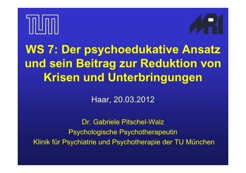 Der psychoedukative Ansatz und sein beitrag