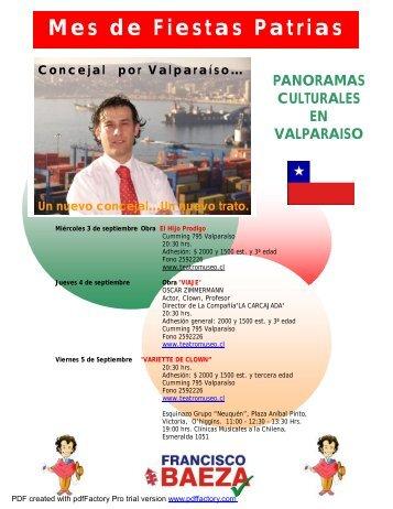 Panoramas Culturales Fiestas Patrias en Valparaiso - Bligoo.com