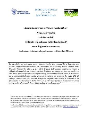 Acuerdo por un México Sostenible - Instituto Global para la ...