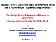 Final Presentation Info for Panel Cambridge April 5 2013 Nuclear