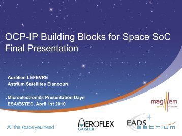 OCP-IP sockets / SPIRIT - Microelectronics - ESA  sc 1 st  Yumpu & CANopy.pdf - Microelectronics - ESA