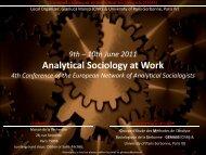 European Network of Analytical Sociologists - Groupe d'Étude des ...