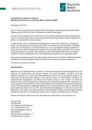 Pressemitteilung lesen - Deutsche Makler Akademie