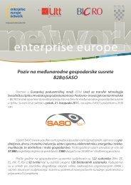 brokerage event saso pozivnica.pdf - Europska poduzetnička mreža ...