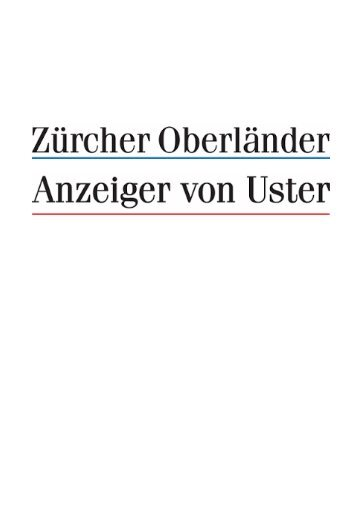 Zürcher Oberländer 1.6.11