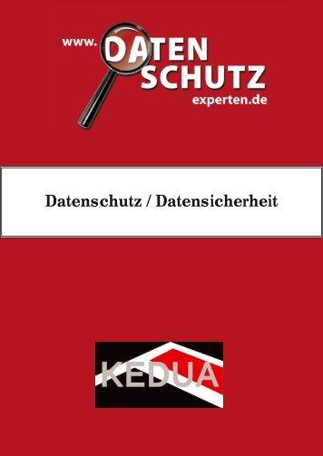 Datenschutz / Datensicherheit - Kedua GmbH