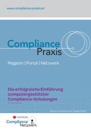 Die erfolgreiche Einführung computergestützter Compliance ...