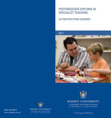 postgraduate diploma in specialist teaching - Massey University