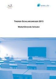 Schulwegweiser 2013 - Stadt Trier