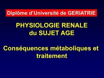 Pr Godin – Physio rénale PA - PIRG