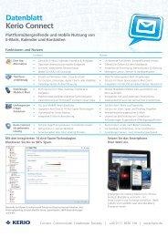 Datenblatt Kerio Connect 7.4 - Haus & Gross it-services GmbH