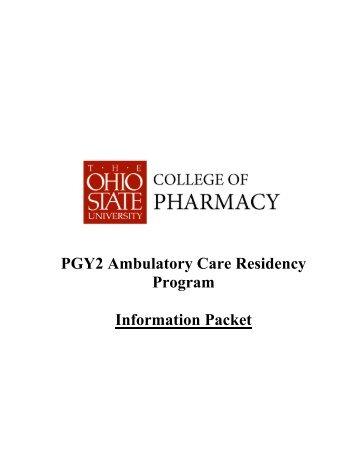 PGY2 Ambulatory Care Residency Program Information Packet